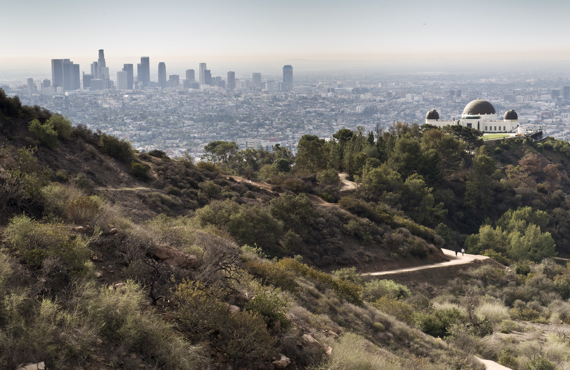 Downtown LA and Griffith Observatory