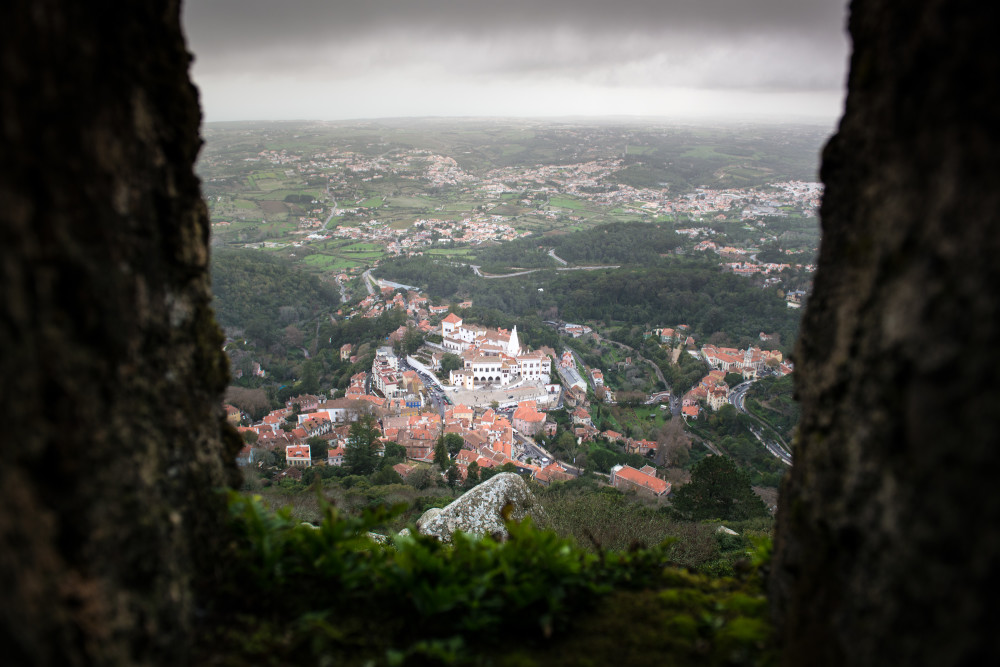 Sintra seen from the ruins