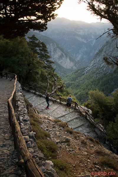 Samaria Gorge sunrise