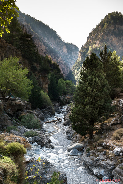 Samaria Gorge riverbed
